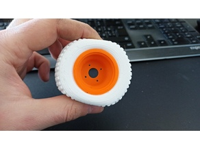 Realistic silicone tire for RC trucks form (65mm)