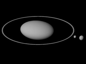 Haumea, Namaka and Hiʻiaka shape scaled one in ten million