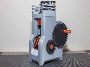 4 Stroke Engine Modell complete 3D printed