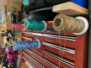 Mount for spool of string