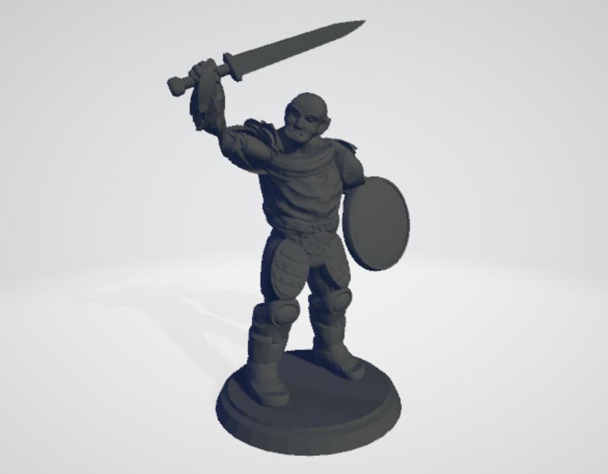 Orc Swordsman - Type 1 (See Description!)