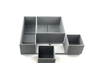 Modular boxes with grid holder