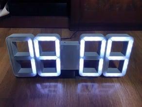 seven segment digital clock (ws2812)