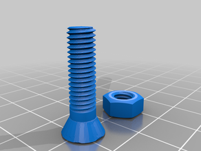 6mm Tapered Nut and Bolt