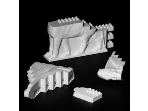 Montini Assyrian Winged Bull Wall Set (Lego Compatible)