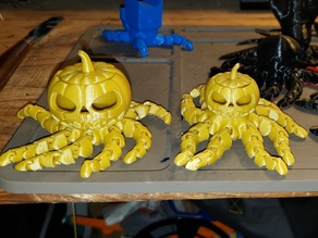 Octopumkin with a bigger pumpkin head