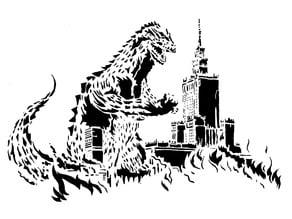 Godzilla stencil 2