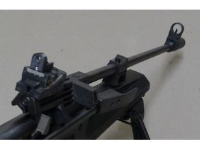 Baikal MP61 dioptric rear and flip-down front sights