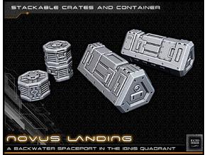 Scifi Crates - 28-32mm gaming - Novus Landing