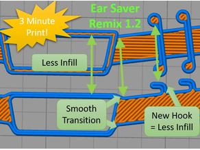 Face Mask Ear Saver Strap for 1.2 Nozzle - Quick Print