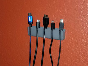 USB cable organizer (wall mount)