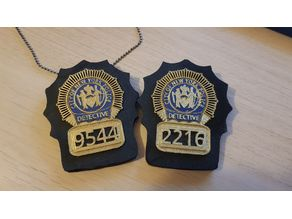 Brooklyn 99 Detective Badges (Jake and Amy)
