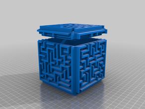 Maze cube box