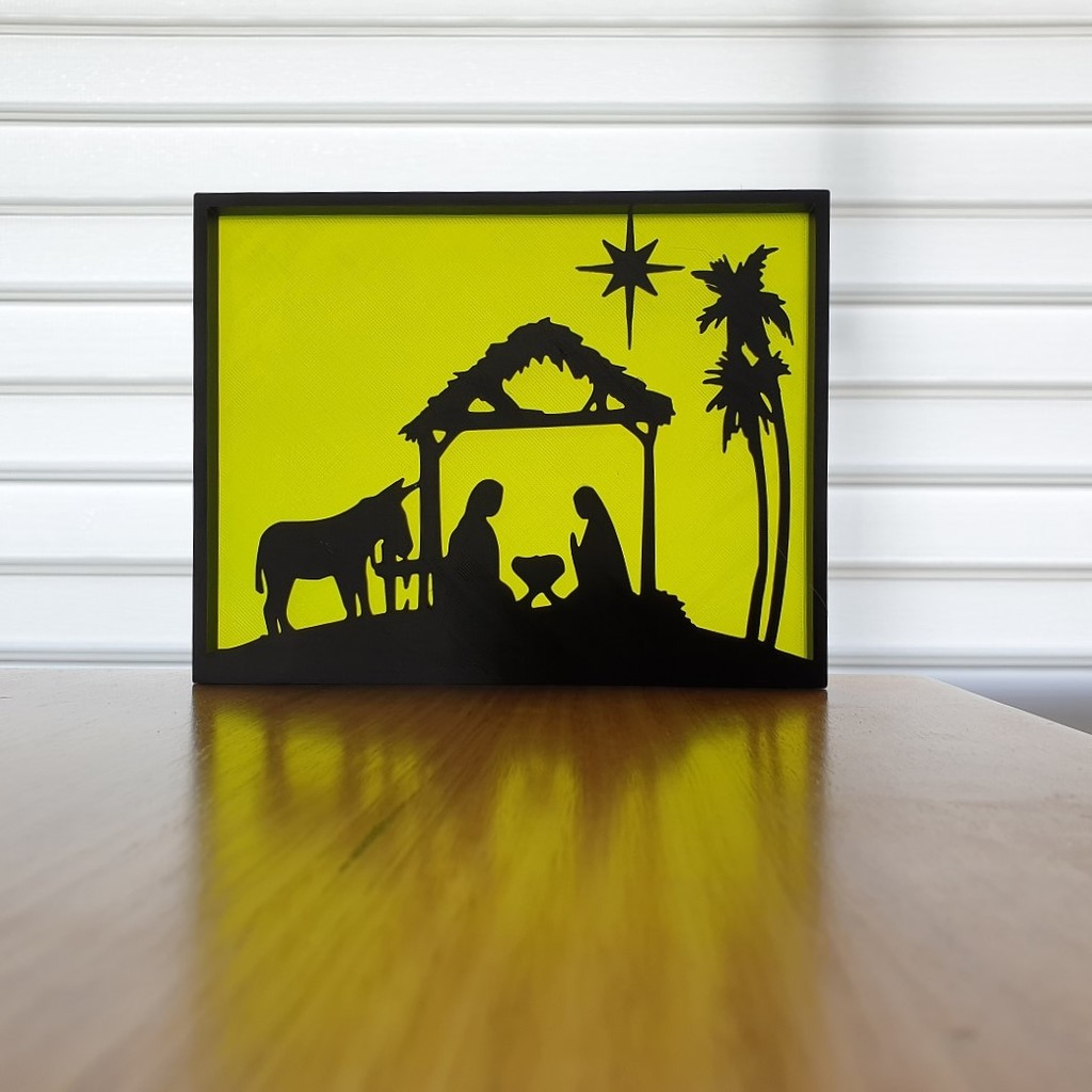Christmas Nativity Silhouette Art
