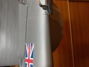 Stabilizer support for 3dlabprint's Spitfire MK IX (170cm)