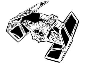 Tie Fighter stencil 3