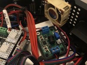 Voltage convertor base for Flsun Q5 12v fan upgrade