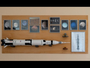 Wall Mount for LEGO Saturn V
