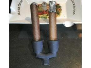Double Cigar Holder
