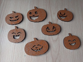 Selection of Friendly Pumpkin Faces