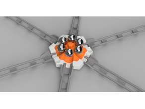 Marble track - 6 balls starter (or 12) (Gravitrax compatible when using my 6 exit basic tile)