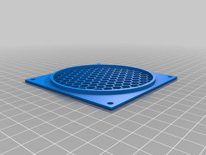 Fan cover with grid for Noctua NF-A9 f (Ikea Stuva 3D printer casing)