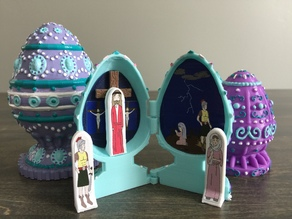 Easter egg resurrection playset