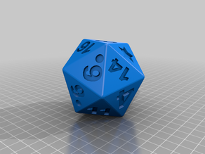 Low Vision Polyhedral Dice