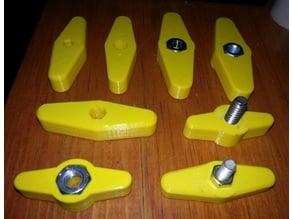WING NUT/BOLT 7/16, 10, 14mm