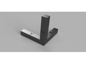 Fast and Economical XYZ calibration tool / Cube (40mm / 150mm)