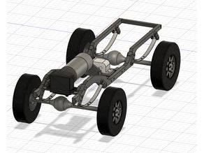 Full printable Leafspring Frame / Chassis for RC Car 1/10 Scale 260mm WB