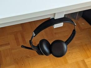 Headset/Headphone Holder for Ikea Melltorp Desk