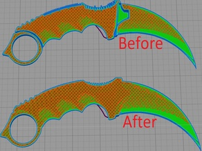 Karambit stl Fixed and easy print version