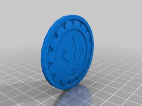 Crowned kraken/trident coin