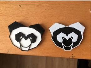 Panda magnet bicolor