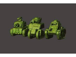 15mm Scale Ork / Orc Tanks