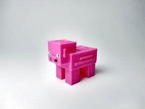 Minecraft Pig And KeyChain