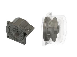 Pullstart Housing & Spool for 1/10 nitro rc engines