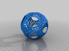 Voronoi Rhombic Dodecahedron Sphere