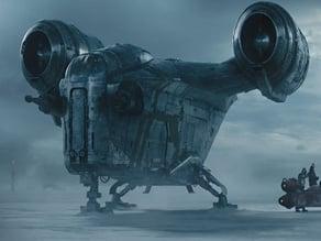 The Mandalorian RazorCrest_X-Wing scale