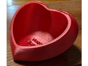 Conversation Heart Candy Dish