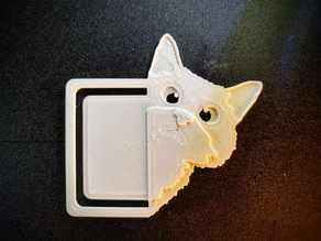 Sneaky cat bookmark