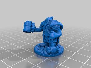 Dwarf with mug and hammer