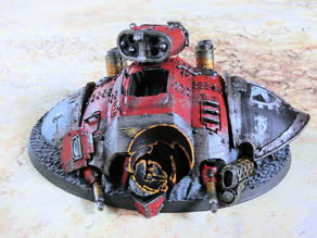 Wrecked robot 120mm base (remix)