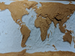 World Map with bathymetry