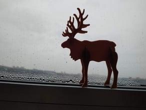 Reindeer christmas card kit easier pop-out