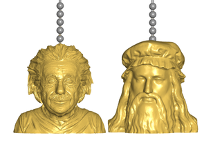 Einstein | Da Vinci Pull Ball Chain, Keychain Knob | Handle | Fob | Finials