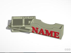 Business Card Holder - News Theme