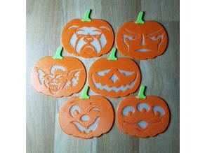 3 color pumpkin face