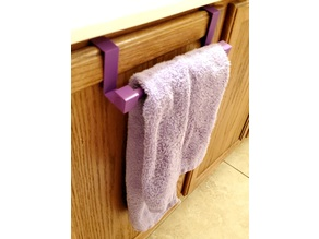 Hand towel rack for cabinet